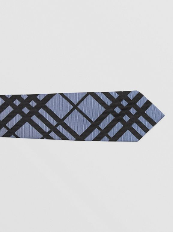 Classic Cut Check Silk Jacquard Tie in Chalk Blue - Men   Burberry - cell image 1