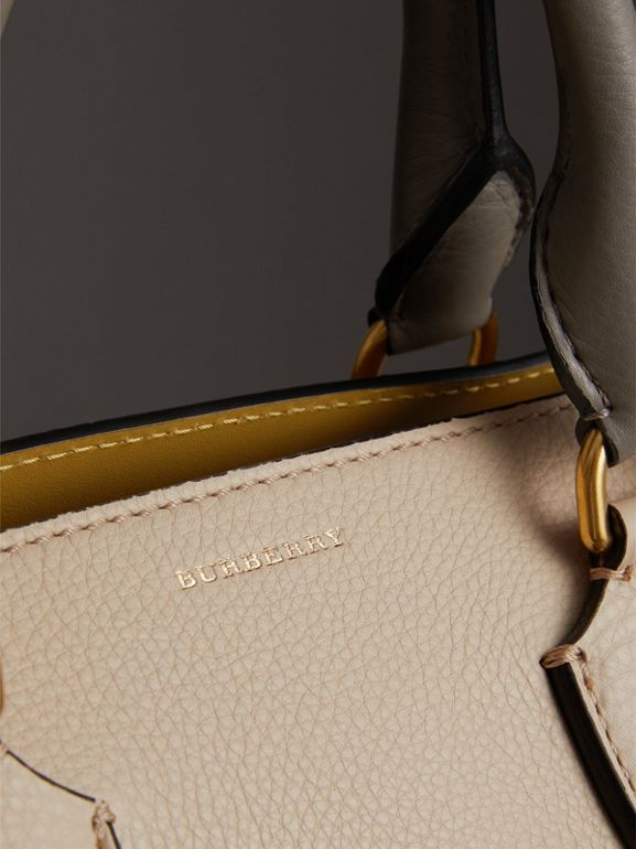 The Medium Tri-tone Leather Belt Bag in Limestone/cornflower Yellow - Women | Burberry - cell image 1