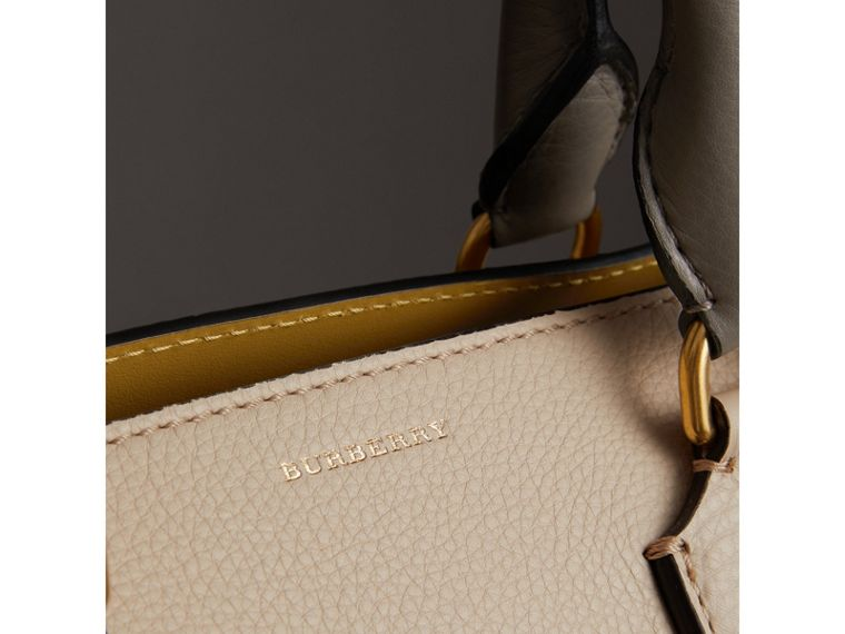 The Medium Tri-tone Leather Belt Bag in Limestone/cornflower Yellow - Women | Burberry Canada - cell image 1