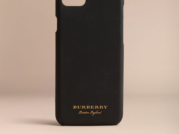 Trench Leather iPhone 7 Case in Black | Burberry United States - cell image 4