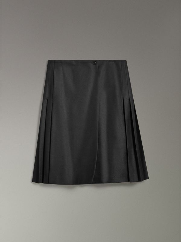 Wool Twill Kilt in Black | Burberry Hong Kong - cell image 3