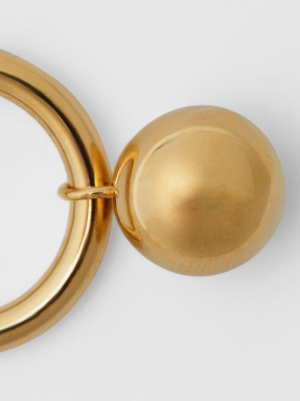 Crystal Charm Gold-plated Ring in Light Gold/crystal - Women | Burberry - cell image 2