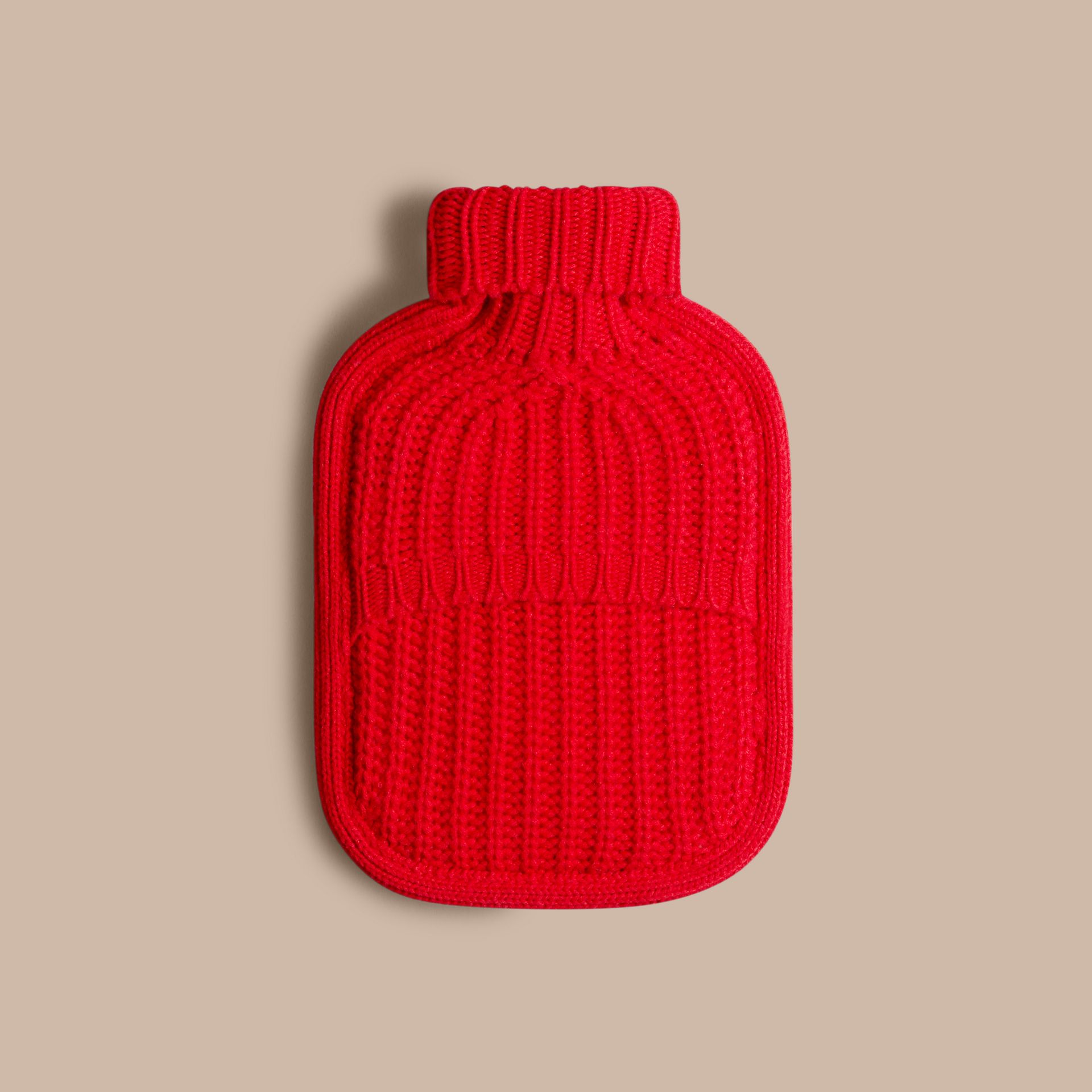 Military red Cashmere Hot Water Bottle Cover Military Red - gallery image 2