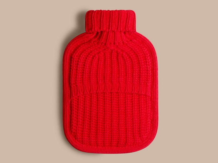 Military red Cashmere Hot Water Bottle Cover Military Red - cell image 1