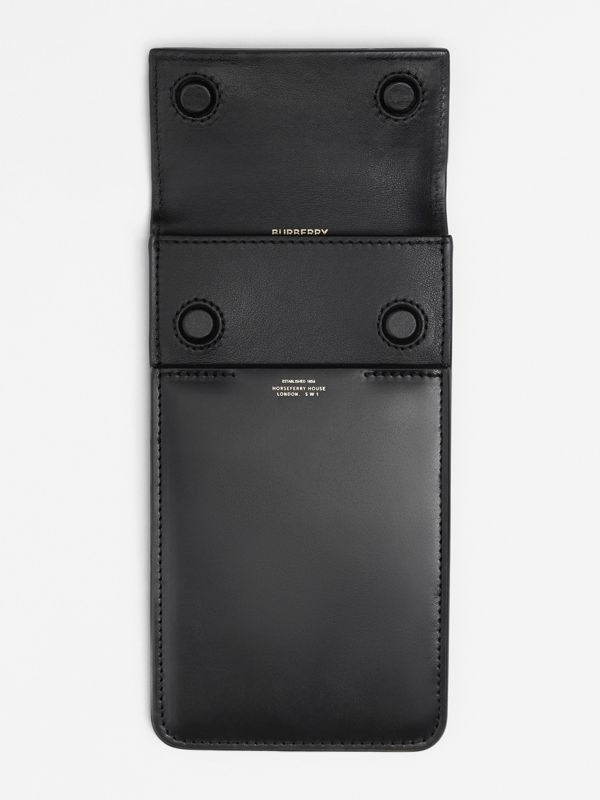 Horseferry Print Leather Phone Case Lanyard in Black - Women | Burberry - cell image 3