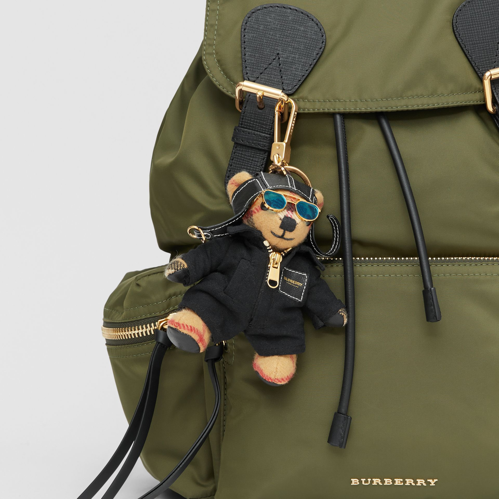 Thomas Bear Charm in Flight Suit in Antique Yellow - Women | Burberry Australia - gallery image 4