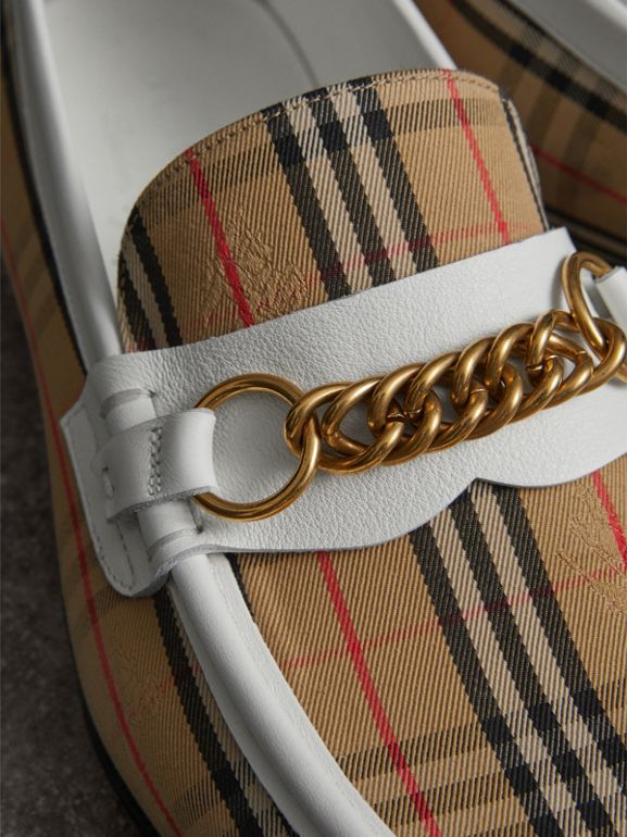 The 1983 Check Link Loafer in Off White | Burberry United States - cell image 1