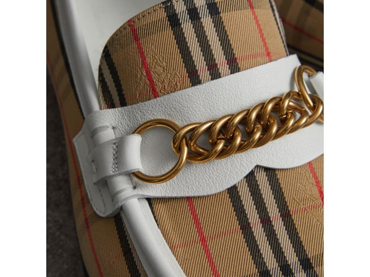 The 1983 Check Link Loafer in Off White | Burberry - cell image 1