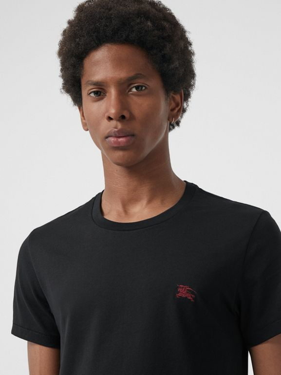 Cotton Jersey T-shirt in Black - Men | Burberry Hong Kong - cell image 1