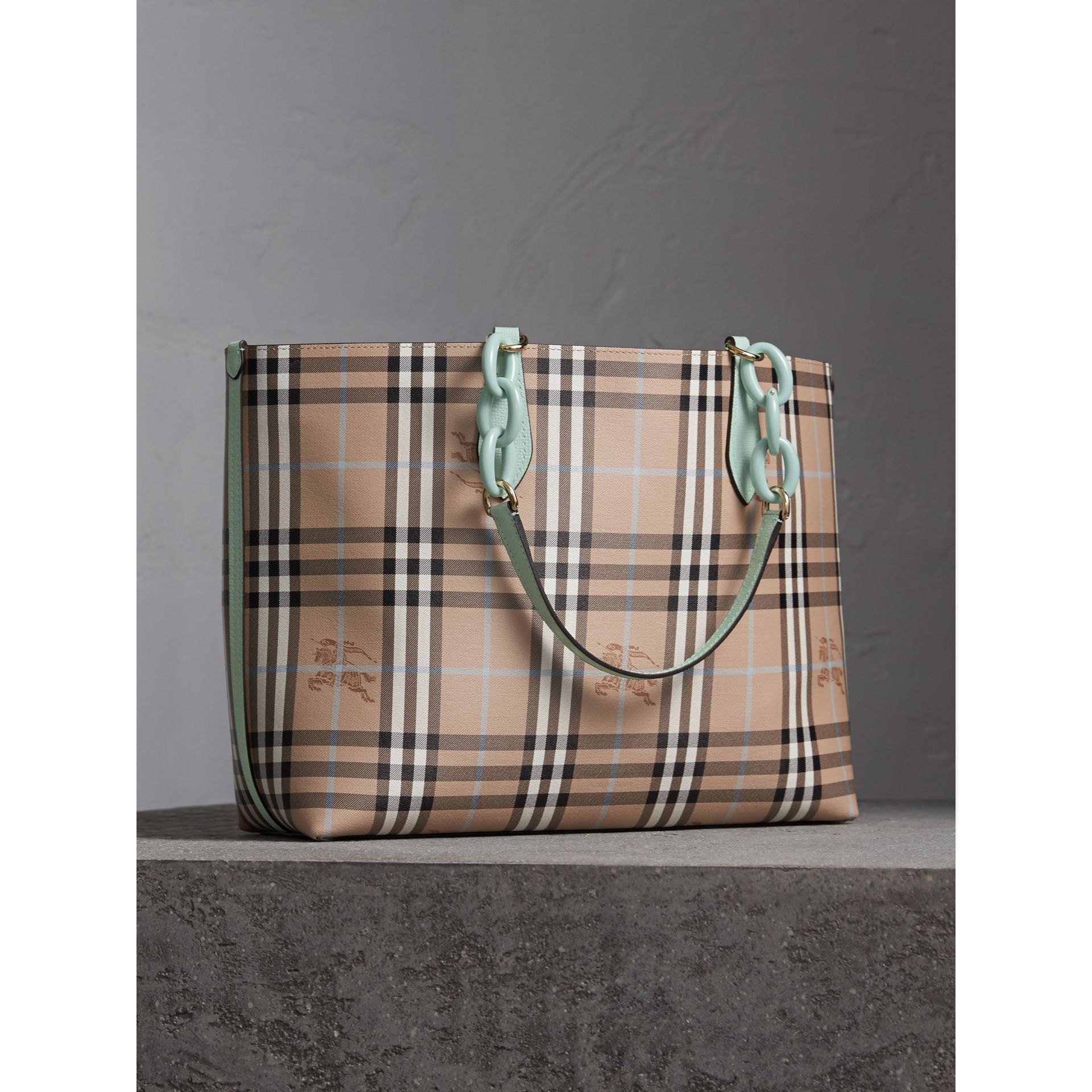 The Medium Reversible Tote with Resin Chain in Pale Opal - Women | Burberry Australia - gallery image 5