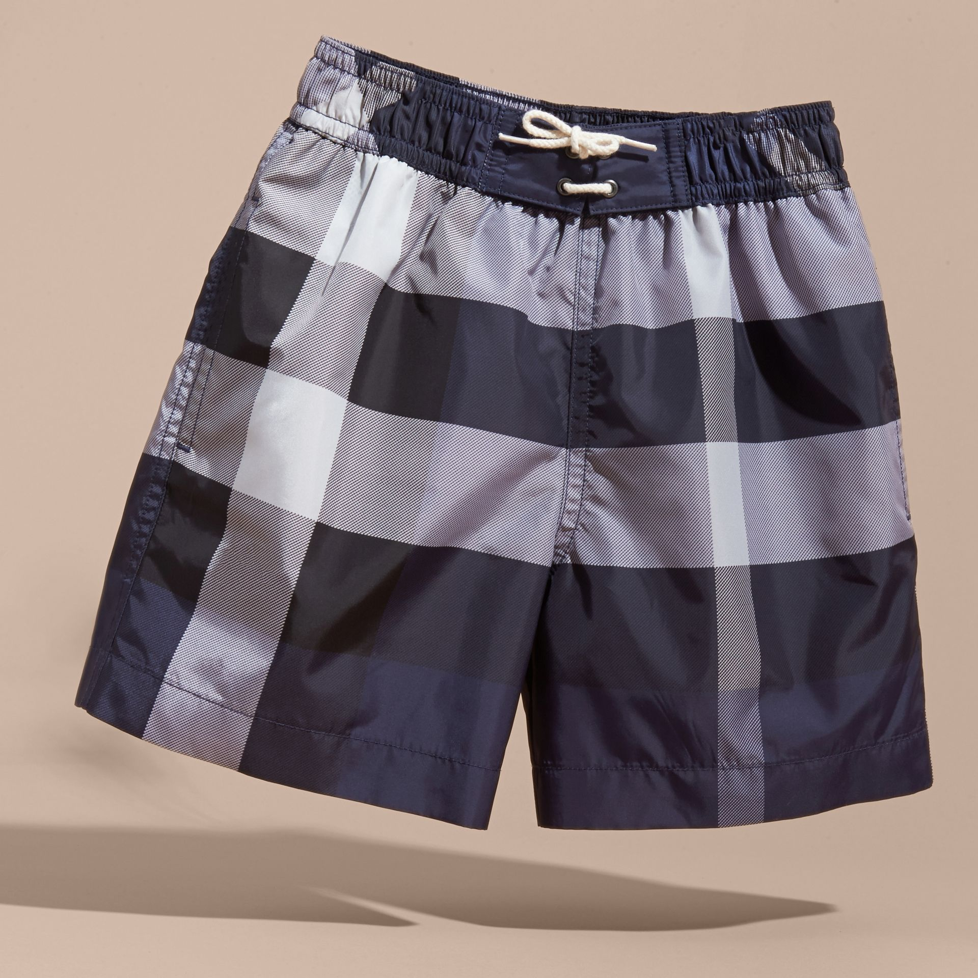 Check Technical Swim Shorts in Ink - Boy | Burberry - gallery image 3