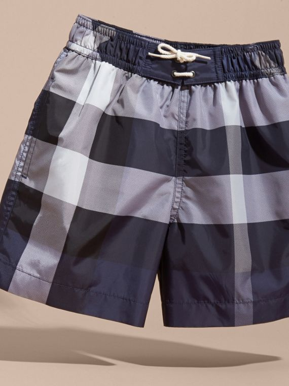 Check Technical Swim Shorts in Ink - Boy | Burberry - cell image 2