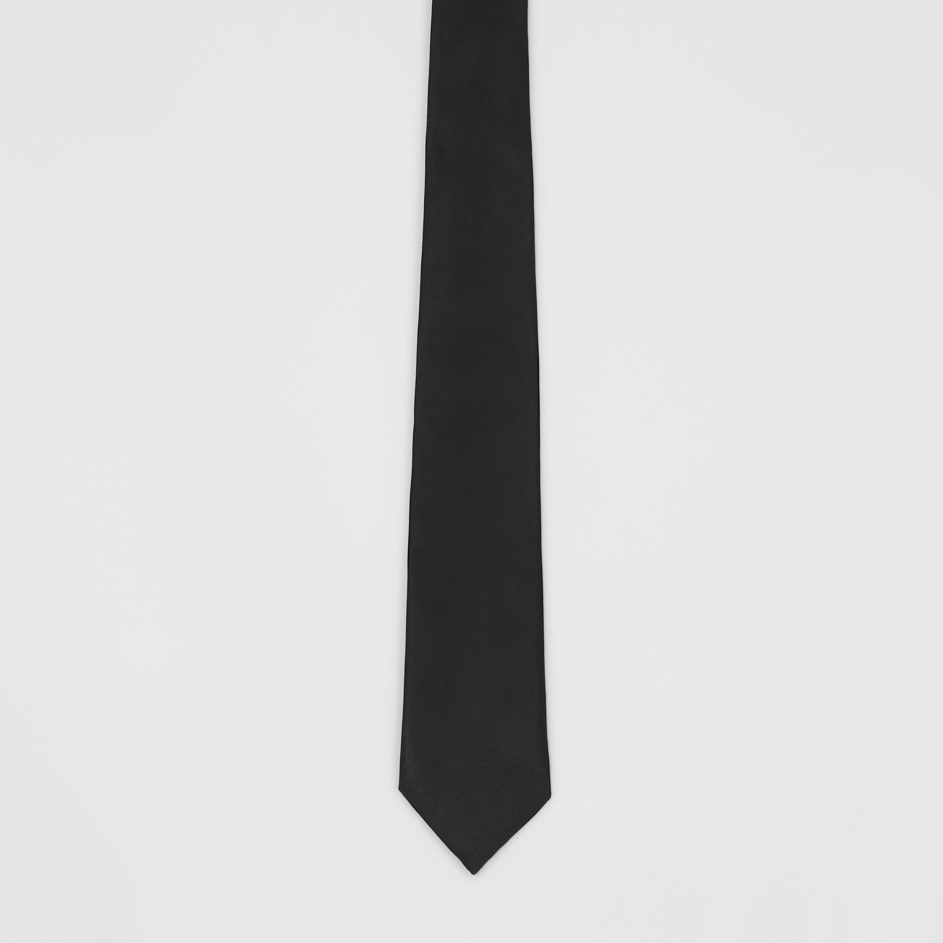 Modern Cut Silk Satin Tie in Black - Men | Burberry United Kingdom - gallery image 3