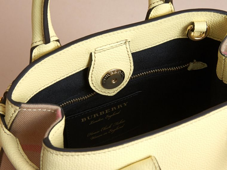 The Baby Banner in Leather and House Check in Camomile Yellow - Women | Burberry Canada - cell image 4