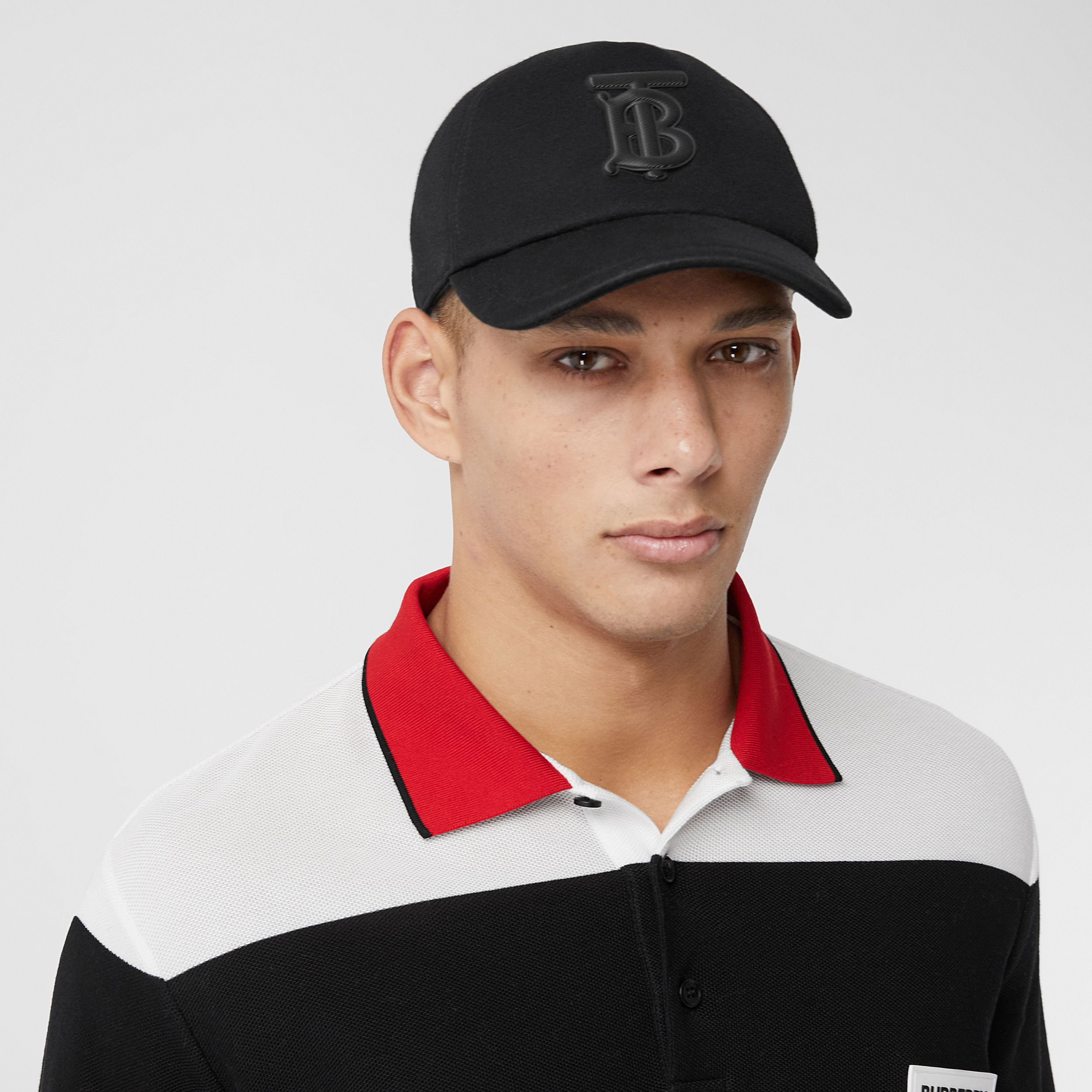 Monogram Motif Neoprene Baseball Cap in Black | Burberry - 4