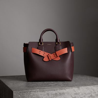The Medium Leather Belt Bag, Deep Claret