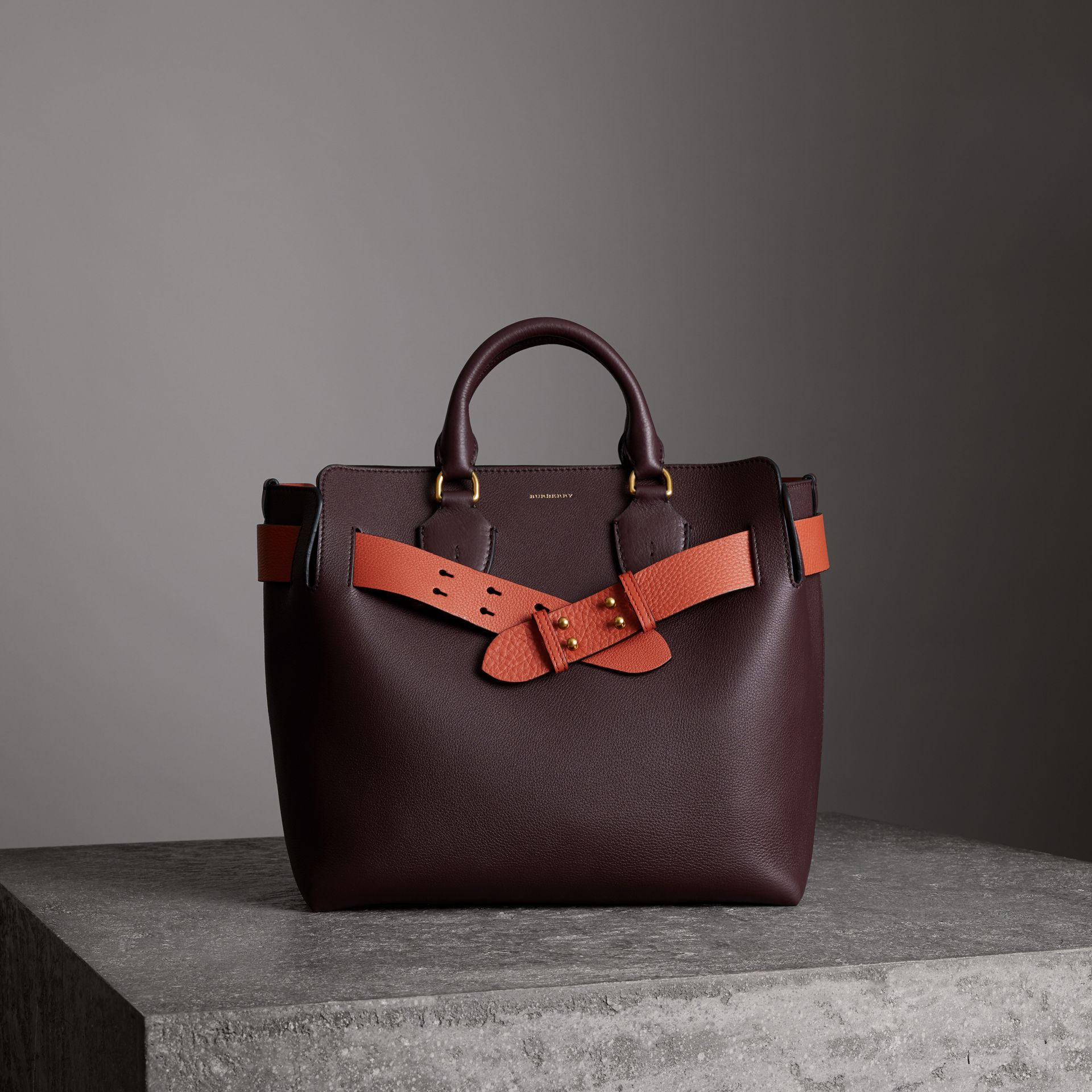 Sac The Belt moyen en cuir (Bordeaux Intense) - Femme | Burberry - photo de la galerie 0