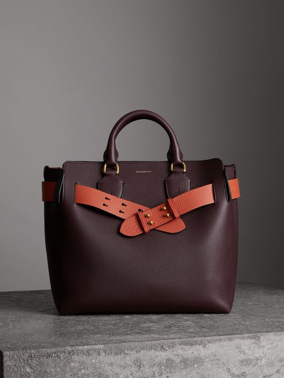Sac The Belt moyen en cuir (Bordeaux Intense)