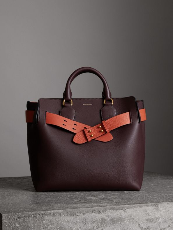 The Medium Leather Belt Bag in Deep Claret
