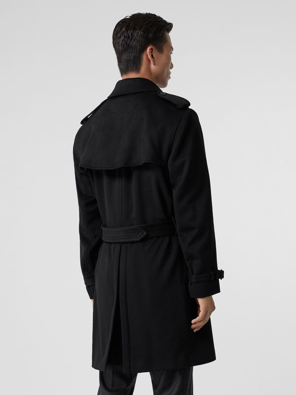 Cashmere Trench Coat in Black - Men | Burberry United Kingdom - cell image 2