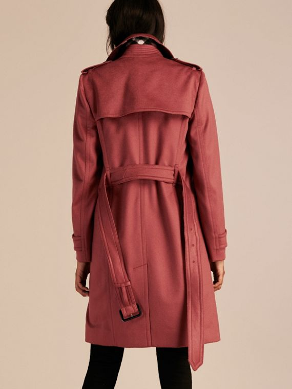 Rosa peonia polvere Trench coat a scialle in cashmere Rosa Peonia Polvere - cell image 2