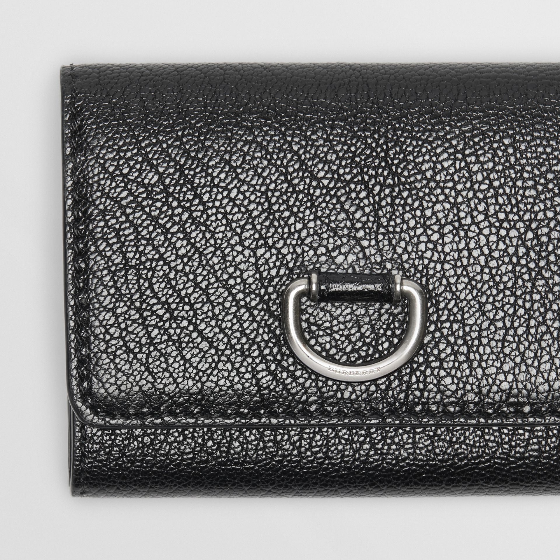 Small D-ring Leather Wallet in Black - Women | Burberry Canada - gallery image 1