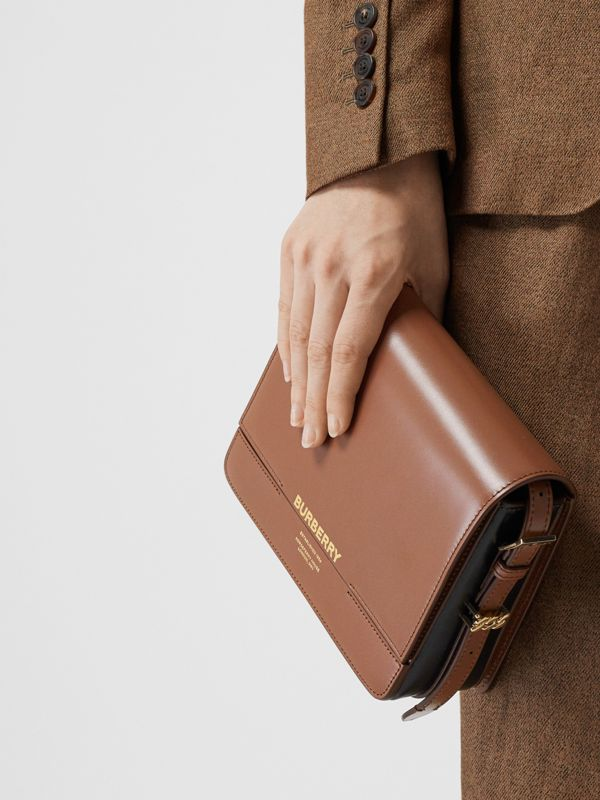 Small Two-tone Leather Grace Bag in Malt Brown/black - Women | Burberry - cell image 2