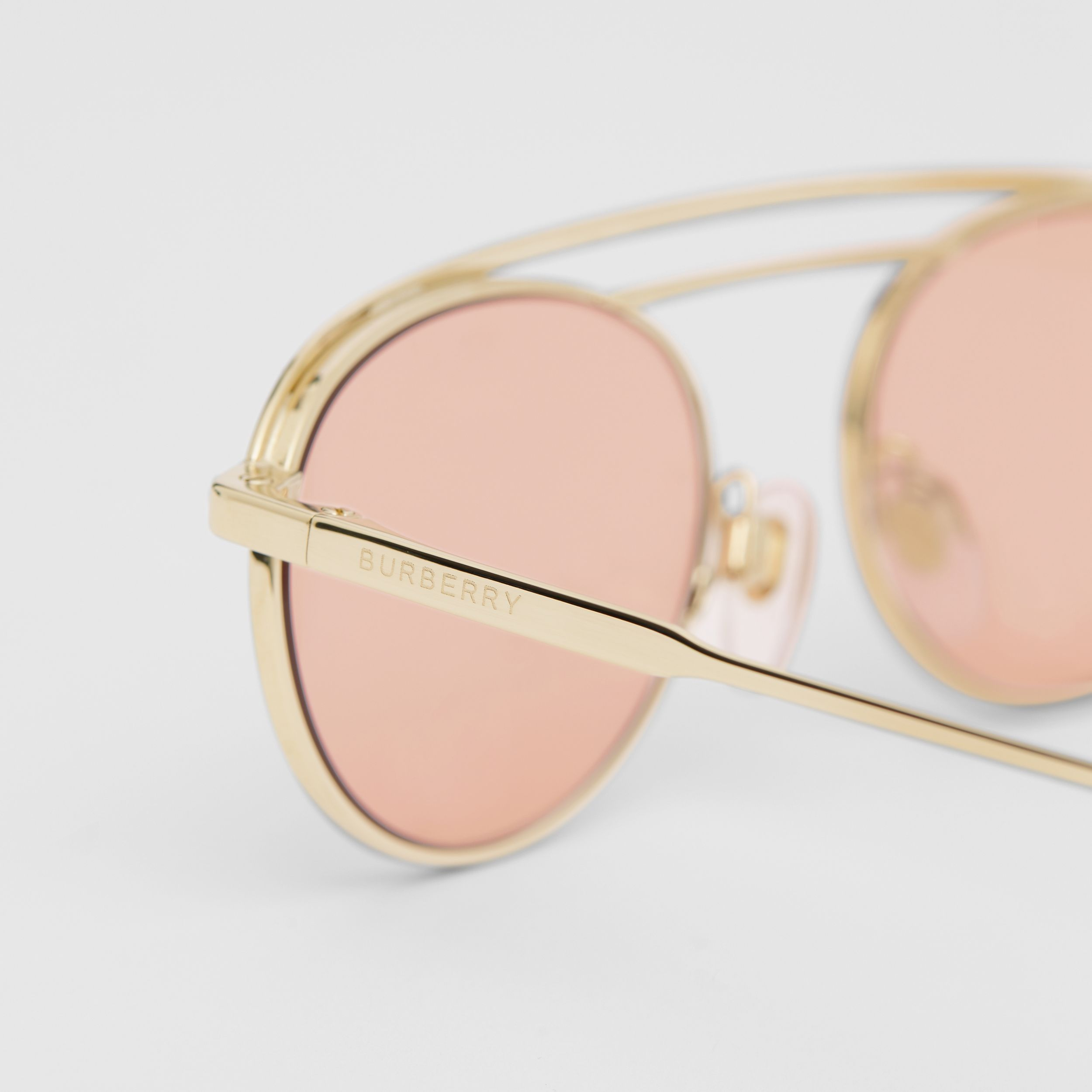 Oval Frame Sunglasses in Light Pink - Women | Burberry - 2