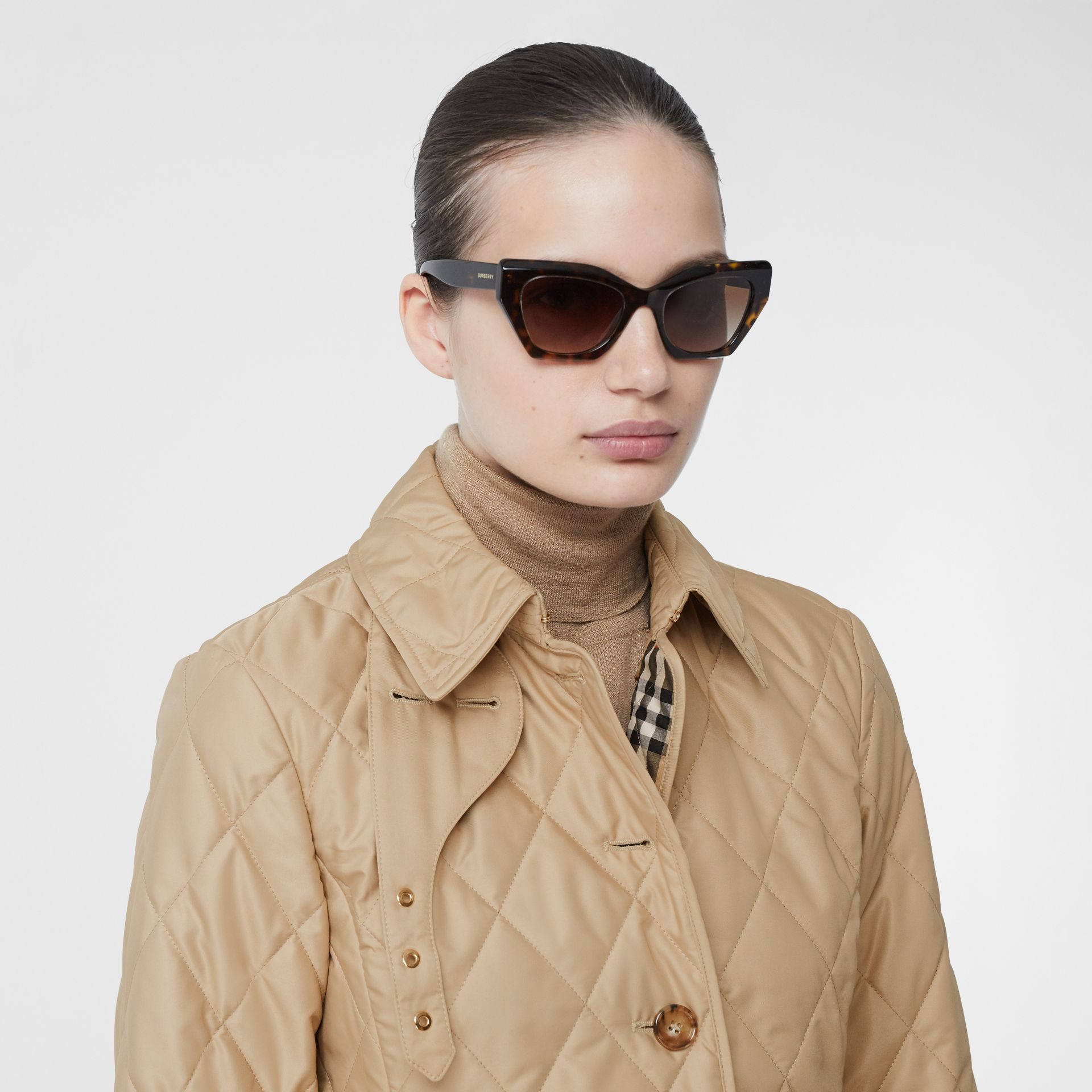 Diamond Quilted Thermoregulated Jacket in New Chino - Women | Burberry Hong Kong S.A.R - gallery image 1