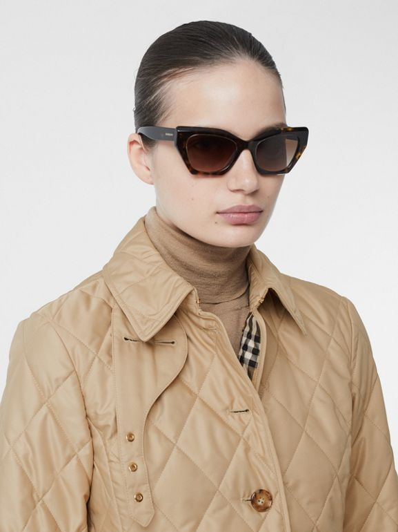 Diamond Quilted Thermoregulated Jacket in New Chino - Women | Burberry Hong Kong S.A.R - cell image 1