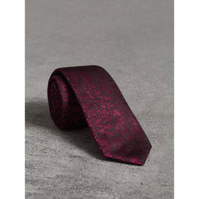 Coupe Mince Cravate Jacquard Floral - Rouge Burberry mjPMIP