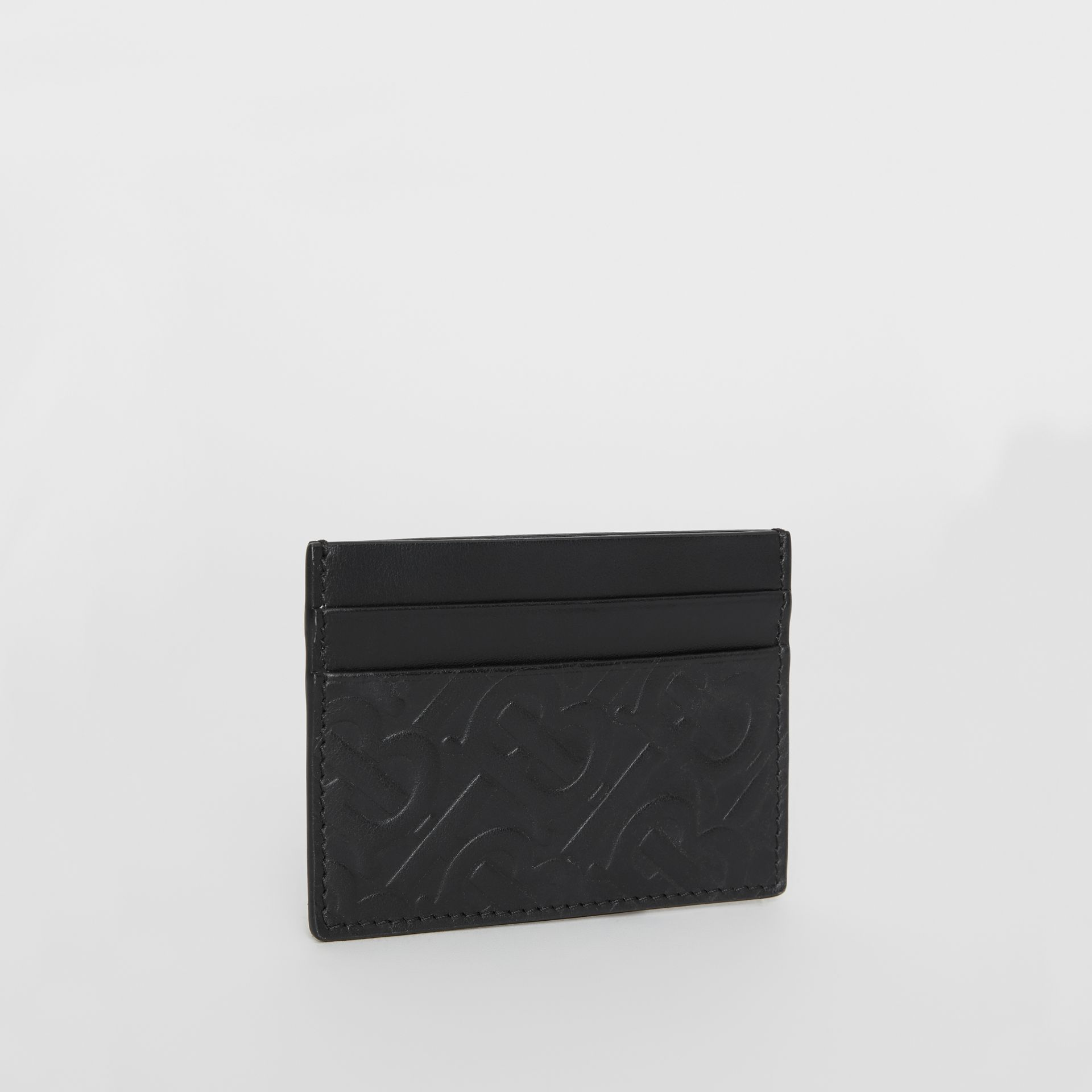 Monogram Leather Card Case in Black - Men | Burberry Singapore - gallery image 3