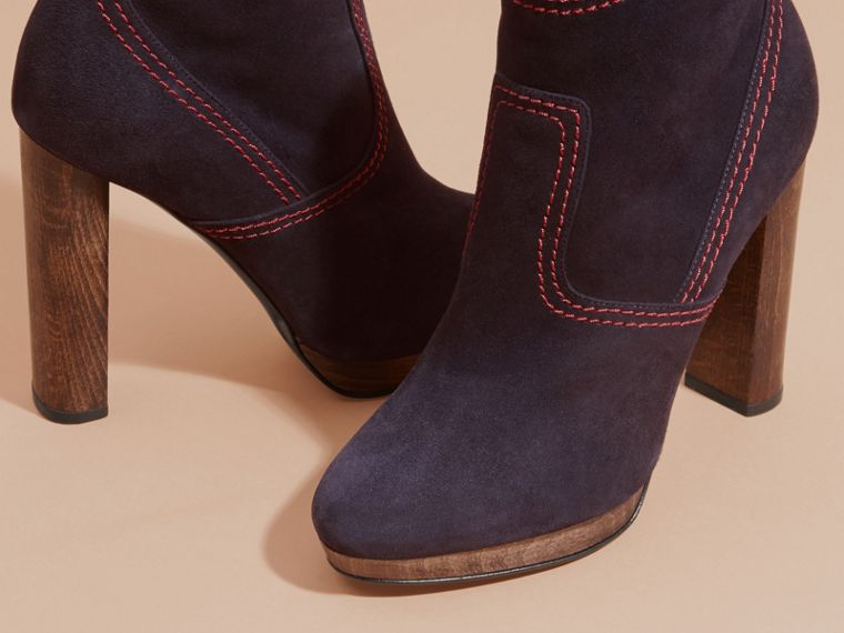 Navy Suede Ankle Boots Navy - cell image 4