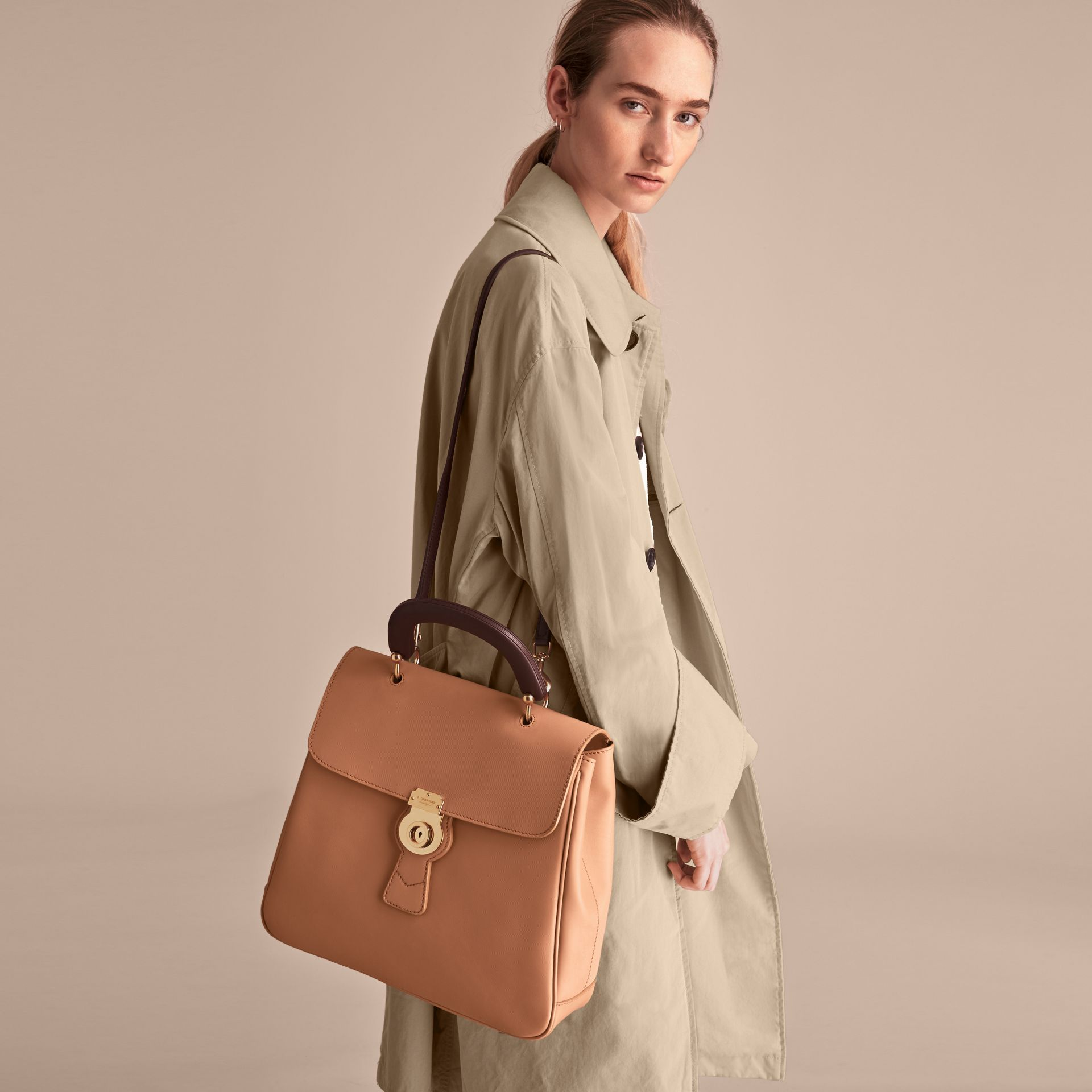 The Large DK88 Top Handle Bag in Pale Clementine - Women | Burberry United Kingdom - gallery image 9