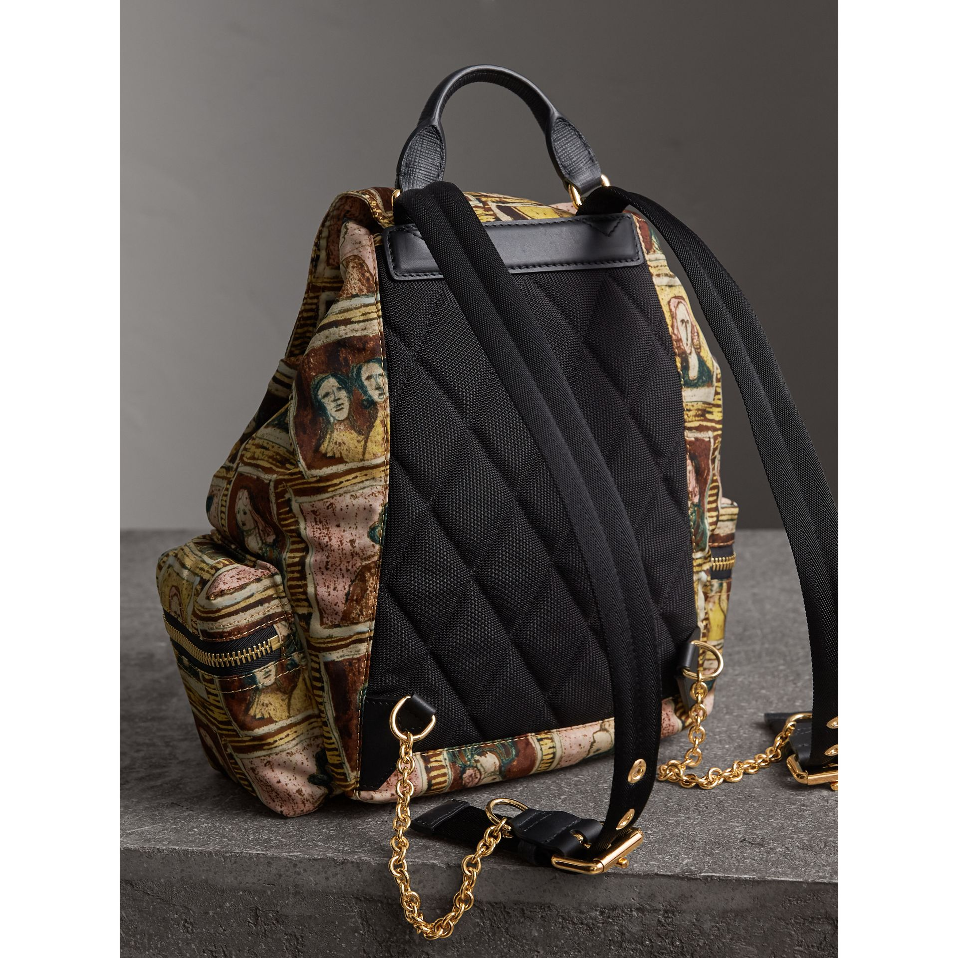The Medium Rucksack in Framed Heads Print - Women | Burberry - gallery image 4