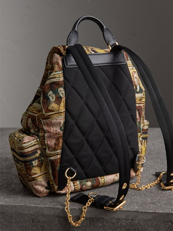 The Medium Rucksack in Framed Heads Print in Umber Brown - Women | Burberry - cell image 3
