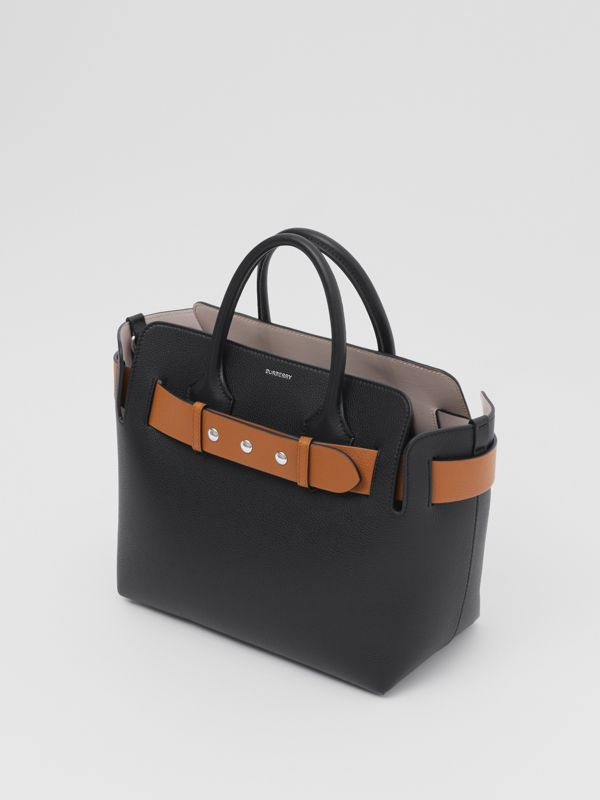 The Small Leather Triple Stud Belt Bag in Black/cognac/chalk Pink - Women | Burberry United Kingdom - cell image 3