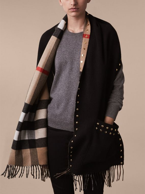 Check Cashmere and Merino Wool Stole