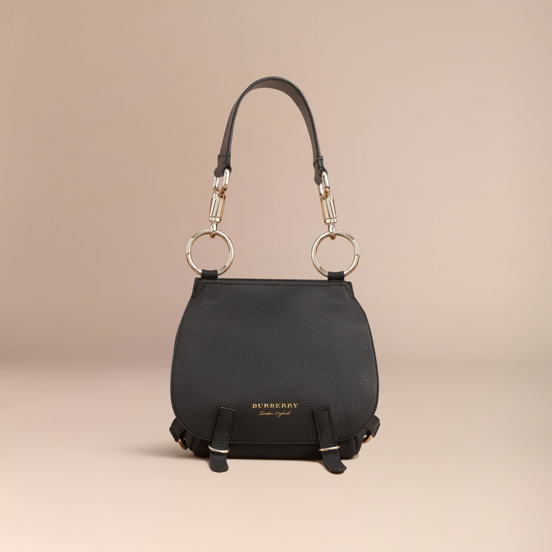 The Bridle Bag in Deerskin in Black - Women | Burberry United Kingdom - gallery image 8