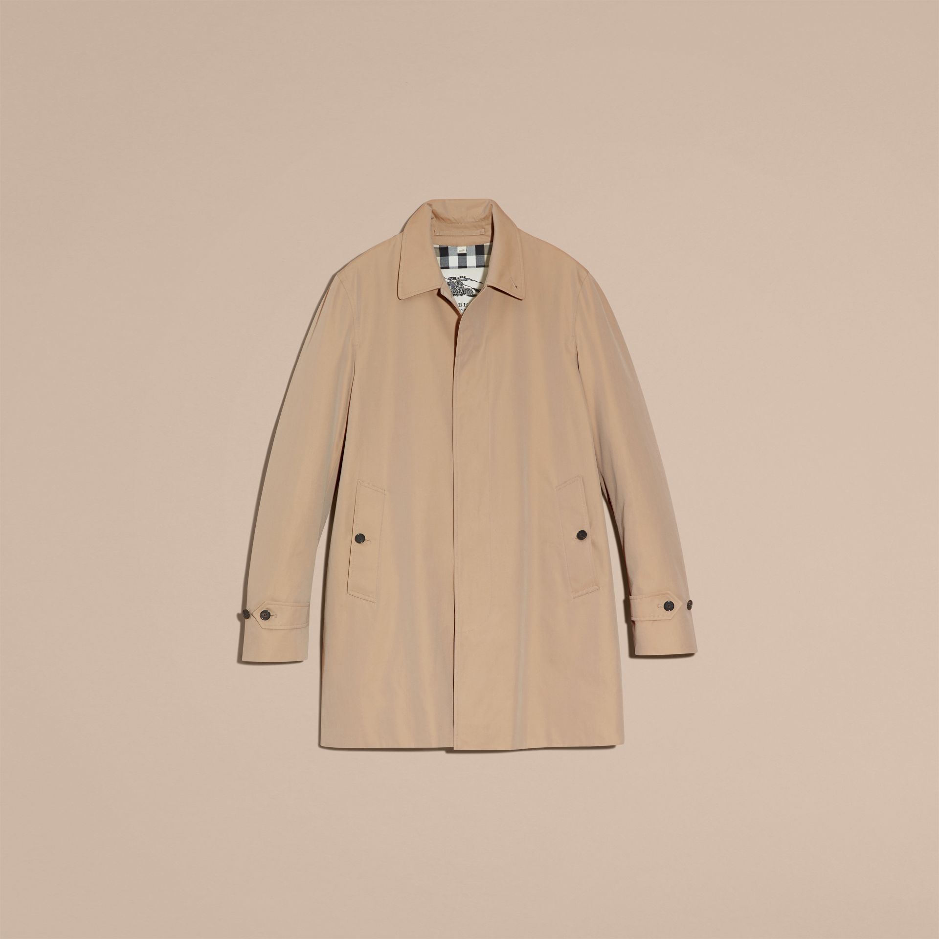 Cotton Gabardine Car Coat in Honey - gallery image 4