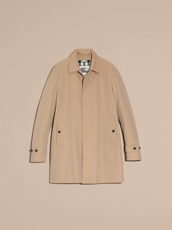 Cotton Gabardine Car Coat Honey - cell image 3