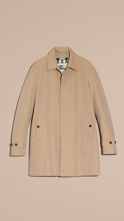 Honey Cotton Gabardine Car Coat Honey - Image 4