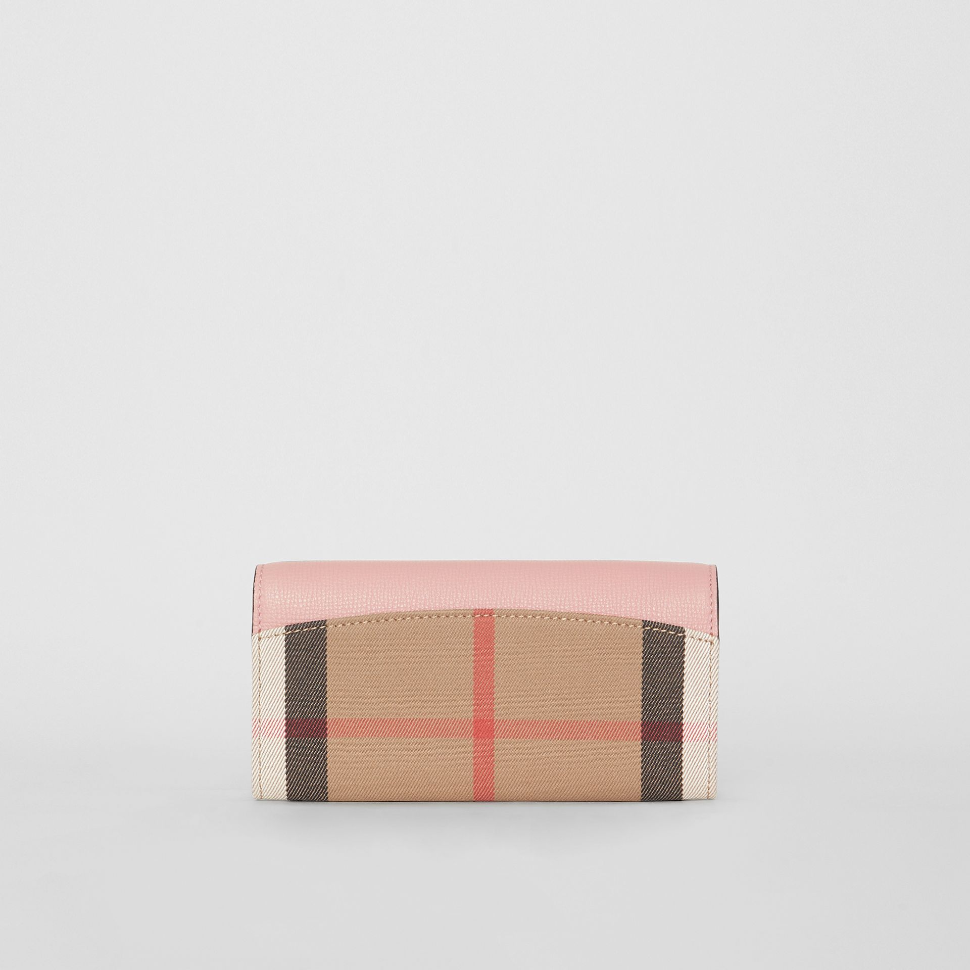House Check And Leather Continental Wallet in Pale Orchid - Women | Burberry - gallery image 5
