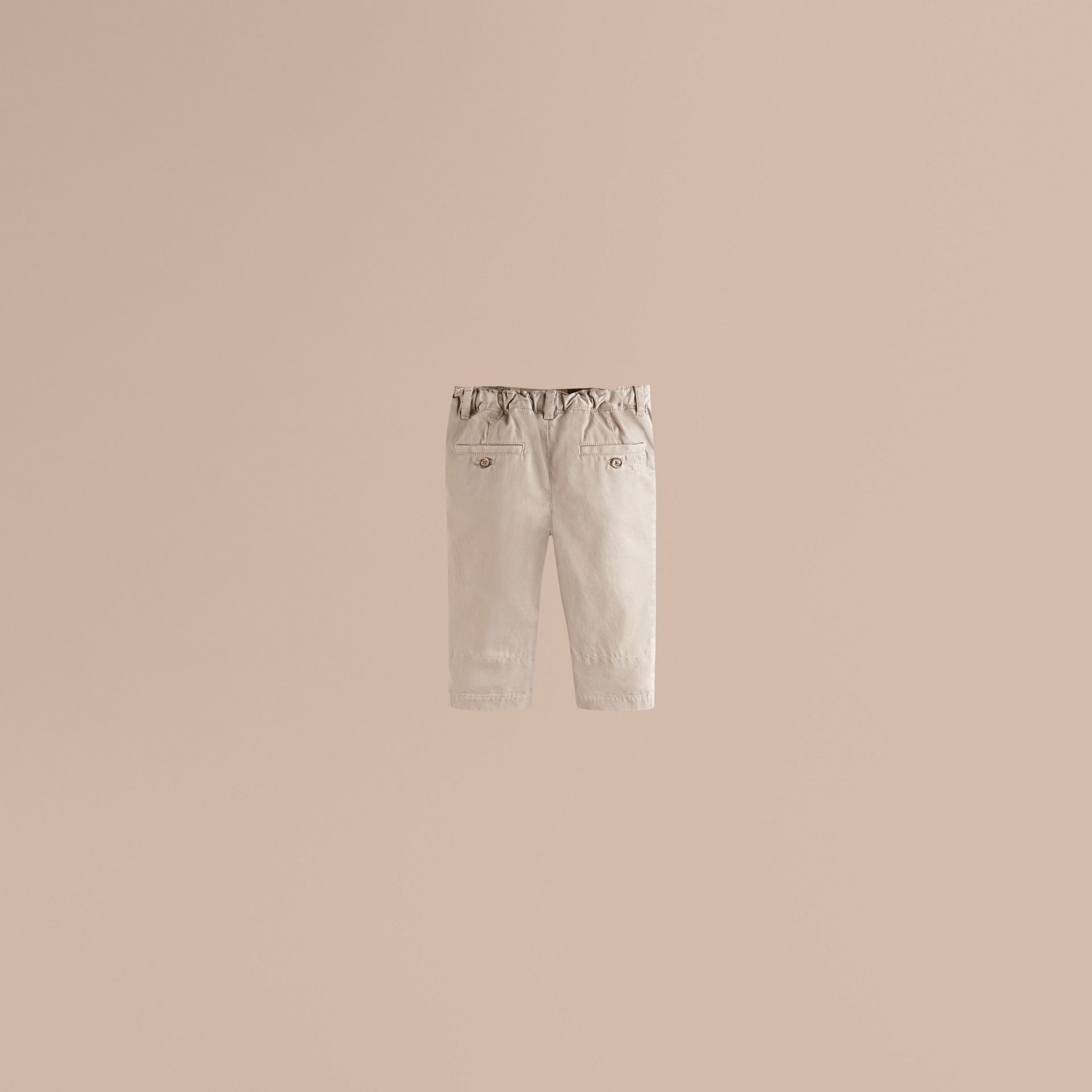 Check Cuff Chinos in Taupe - Boy | Burberry Canada - gallery image 1