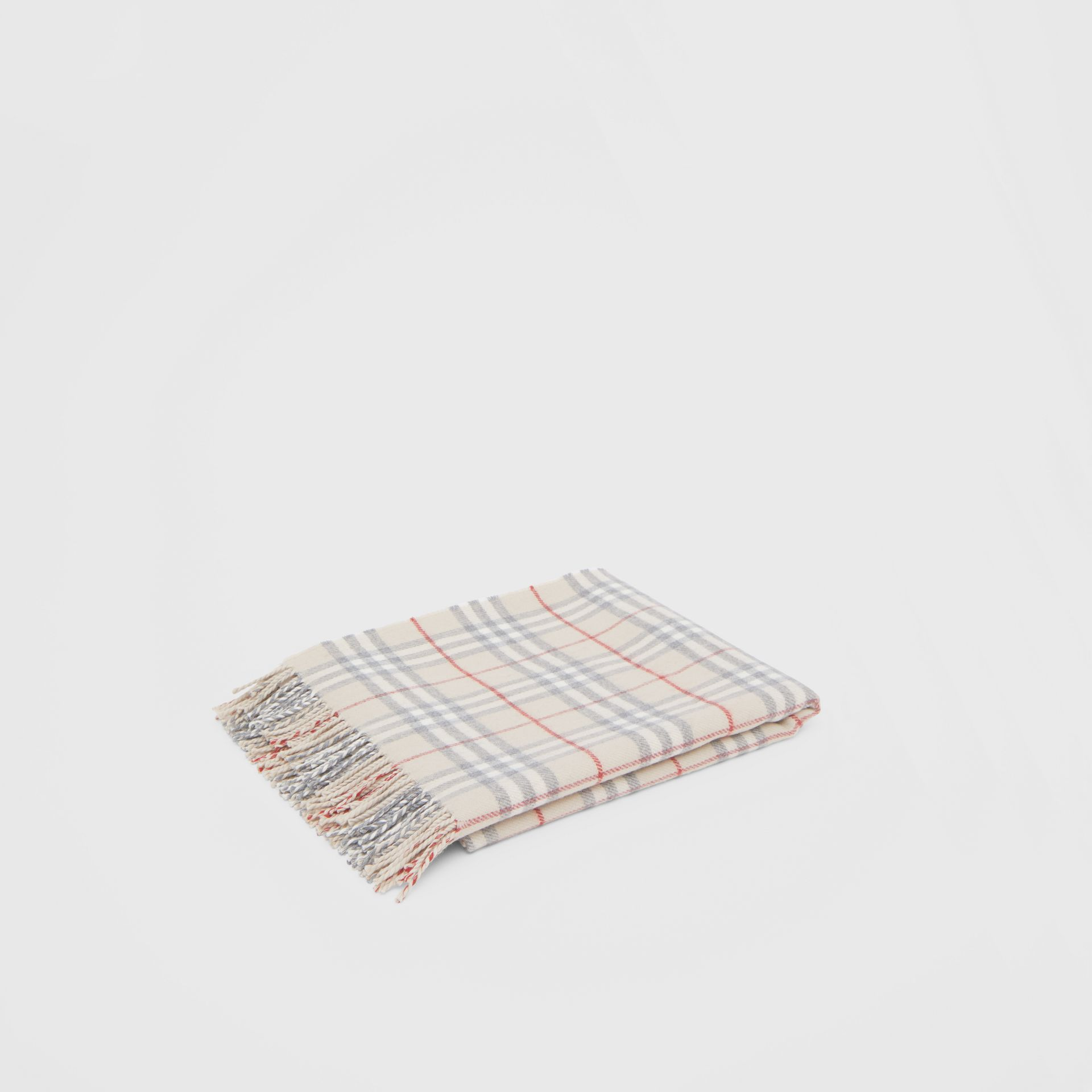 Vintage Check Wool Flannel Baby Blanket in Pale Stone - Children | Burberry - gallery image 0