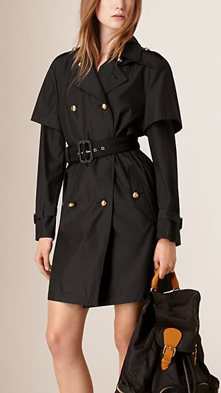 Storm Shield Silk Wool Trench Coat