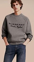 Typographic Wool Blend Sweatshirt