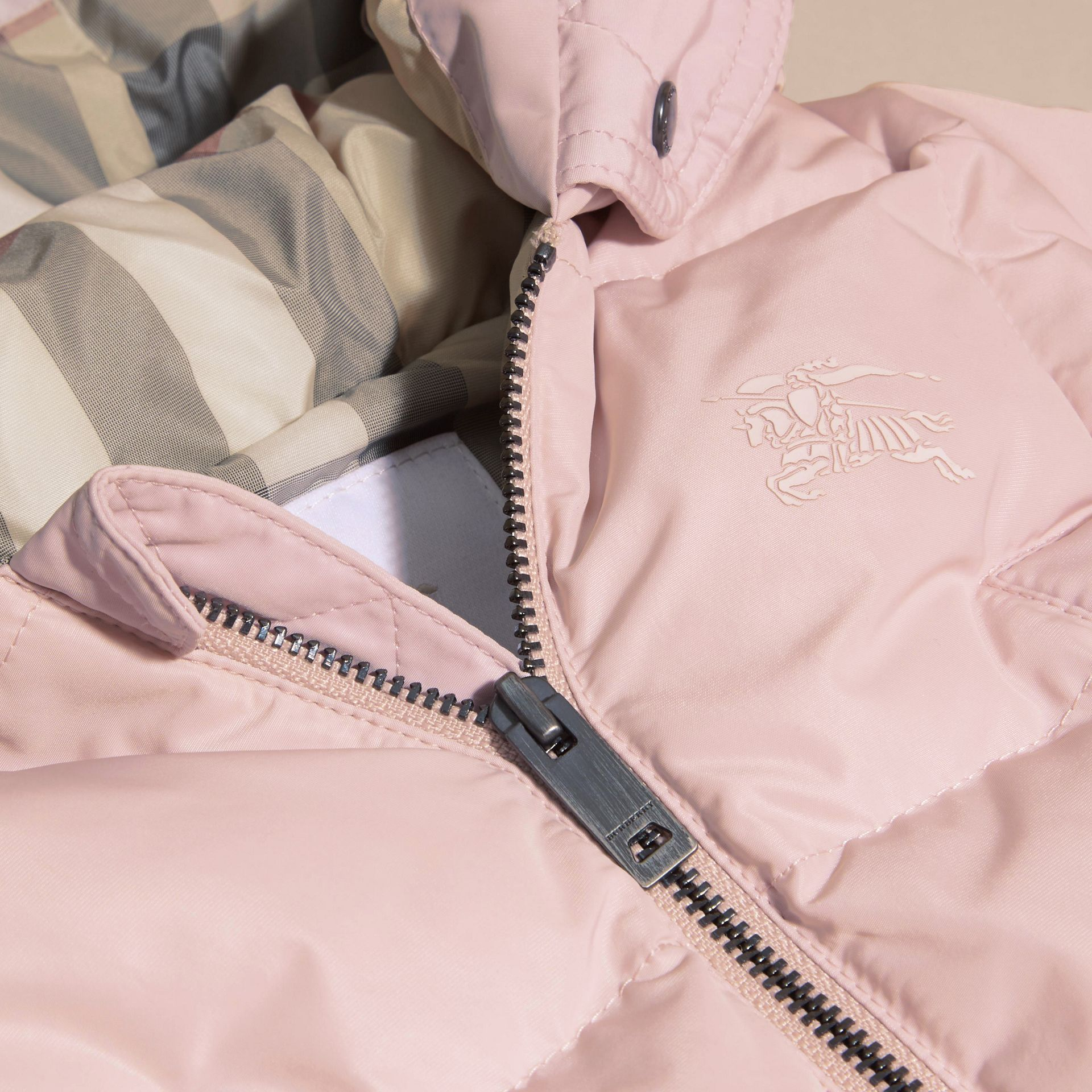 Powder pink Down-filled Puffer Suit Powder Pink - gallery image 2