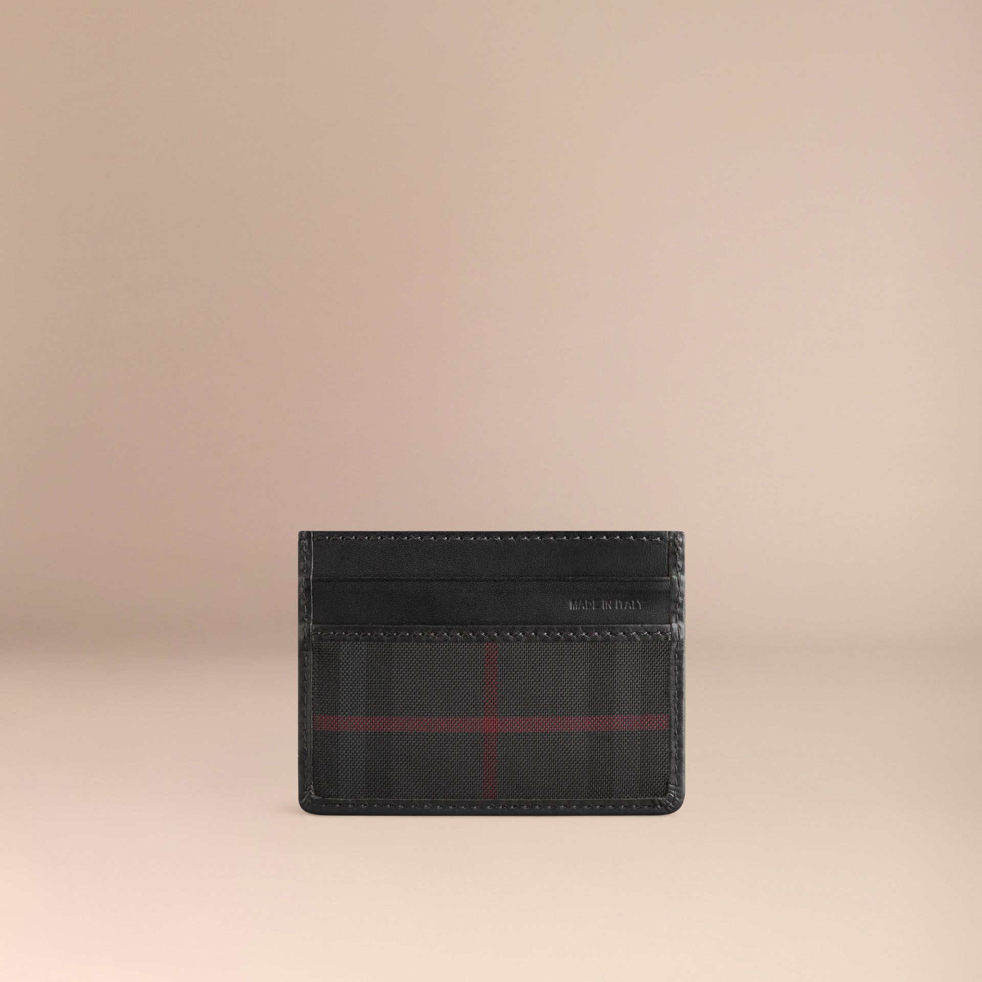 Charcoal/black Horseferry Check Card Case Charcoal/black - gallery image 3
