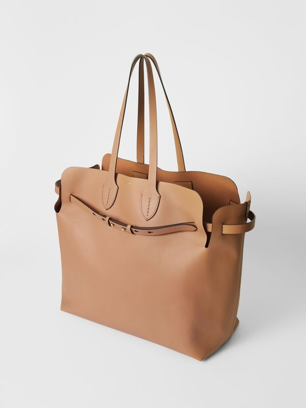 The Large Soft Leather Belt Bag in Light Camel - Women | Burberry Hong Kong - cell image 3